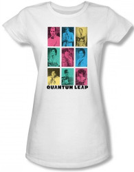 Image for Quantum Leap Faces of Sam Girls Shirt
