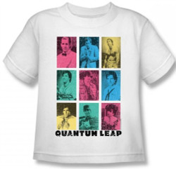 Image for Quantum Leap Faces of Sam Kids T-Shirt