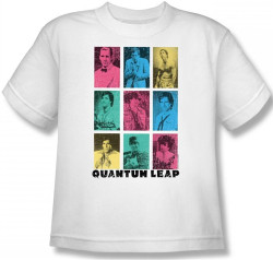 Image for Quantum Leap Faces of Sam Youth T-Shirt