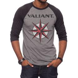 Image for Valiant Classic Logo 3/4 Sleeve Raglan T-Shirt