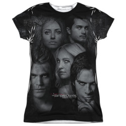 Image for Vampire Diaries Girls Sublimated T-Shirt - In the Woods 100% Polyester