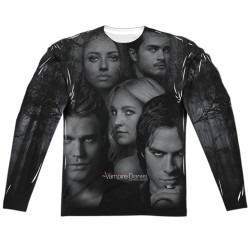 Image for Vampire Diaries Sublimated Long Sleeve - In the Woods 100% Polyester