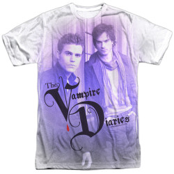 Image for Vampire Diaries Sublimated T-Shirt - Stefan and Damon