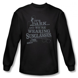 Image for The Blues Brothers Long Sleeve Shirt - It's Dark and We're Wearing Sunglasses