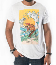 Image for Zane Fix Freedom Koi & Waves Burnout T-Shirt
