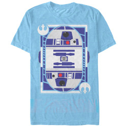 Image for Star Wars R2-D2 Card Heather T-Shirt