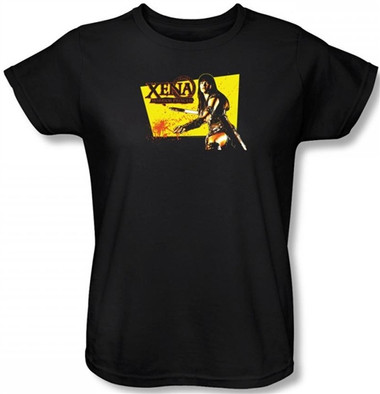 Image for Xena Warrior Princess Cut Up Woman's T-Shirt