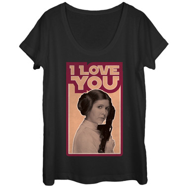 Image for Star Wars Juniors Scoop Neck Heather Shirt - Leia Love