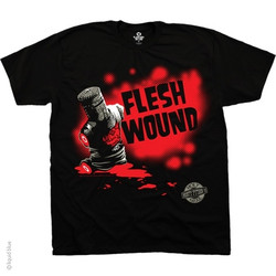 Image for Monty Python T-Shirt - The Holy Grail Flesh Wound