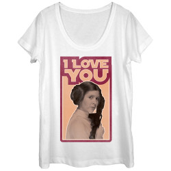 Image for Star Wars Juniors Scoop Neck Heather Shirt - Leia I Love You