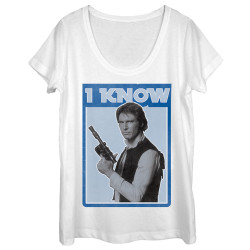 Image for Star Wars Juniors Scoop Neck Heather Shirt - Han I Know
