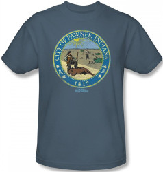 Image Closeup for Parks & Rec Distressed Pawnee Seal T-Shirt