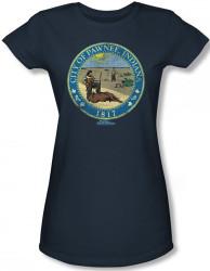 Image for Parks & Rec Distressed Pawnee Seal Girls Shirt