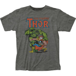 Image for Thor vs Hulk Heather T-Shirt