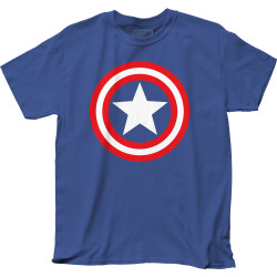 Image for Captain America T-Shirt - Shield on Royal