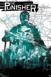 Image for Punisher Poster - Fractured Map