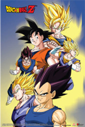 Image for Dragon Ball Z Poster - Goku, Vegeta, Vegito