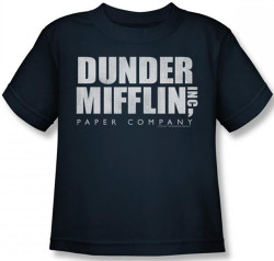 Image for The Office Dunder Mifflin Distressed Logo Kids T-Shirt