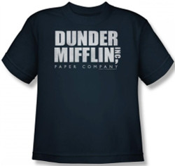 Image for The Office Dunder Mifflin Distressed Logo Youth T-Shirt
