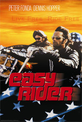 Easy Rider Poster - Live Free Ride Free