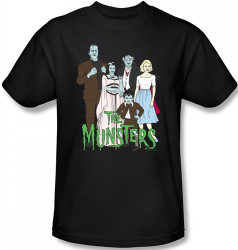 Image Closeup for The Munsters the Family T-Shirt