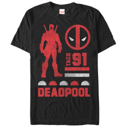Image for Deadpool Silhoutte Taco 91 T-Shirt