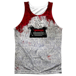 The Shining Sublimated Tank Top - All Work and No Play Makes Jack a Dull Boy