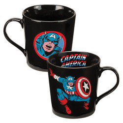 Full image for Captain America Jumping Forward Coffee Mug
