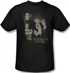 Image Closeup for The Munsters American Gothic T-Shirt