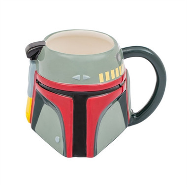 Front image for Star Wars Boba Fett Sculpted Face Coffee Mug