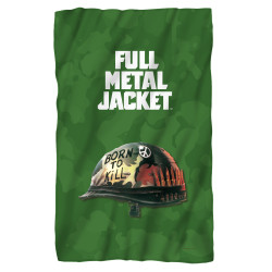 Full Metal Jacket Fleece Blanket - Poster