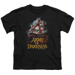 Image for Army of Darkness Youth T-Shirt - Bloody Poster