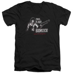 Image for Army of Darkness V Neck T-Shirt - Boomstick