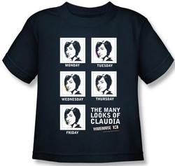 Image for Warehouse 13 the Many Looks of Claudia Kids T-Shirt