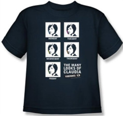 Image for Warehouse 13 the Many Looks of Claudia Youth T-Shirt
