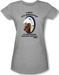 Image for Parks & Rec I Met Li'l Sebastian Girls Shirt