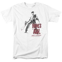 Image for Army of Darkness T-Shirt - Names Ash