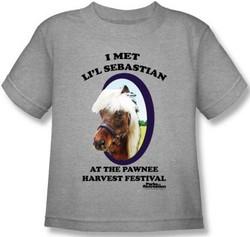 Image for Parks & Rec I Met Li'l Sebastian Kids T-Shirt