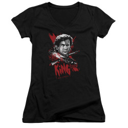 Image for Army of Darkness Girls V Neck - Hail to the King