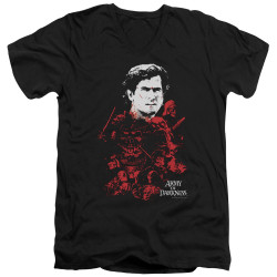 Image for Army of Darkness V Neck T-Shirt - Pile of Baddies