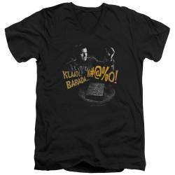 Image for Army of Darkness V Neck T-Shirt - Klaatu...Barada