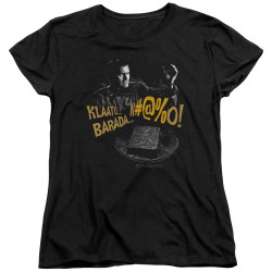 Image for Army of Darkness Womans T-Shirt - Klaatu...Barada