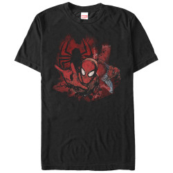 Image for Spider-Man Spider Ink Splotches T-Shirt
