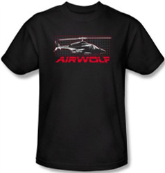 Image Closeup for Airwolf Grid T-Shirt