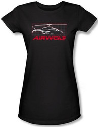 Image for Airwolf Grid Girls Shirt