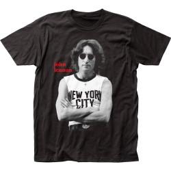Image for John Lennon NYC B&W T-Shirt