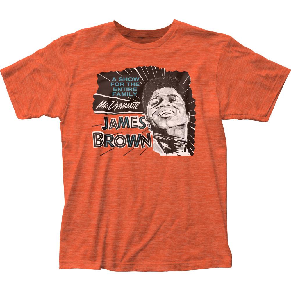 3e5f0ff58 James Brown Mr. Dynamite Heather T-Shirt - NerdKungFu