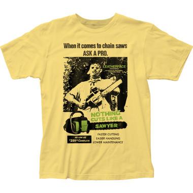 Image for Texas Chainsaw Massacre T-Shirt - Cuts Like a Sawyer