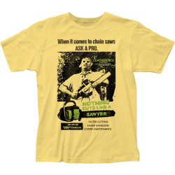 Image for Texas Chainsaw Massacre T-Shirt - Cuts Like a Sawyer