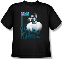 Image for Miami Vice Looking Out Youth T-Shirt